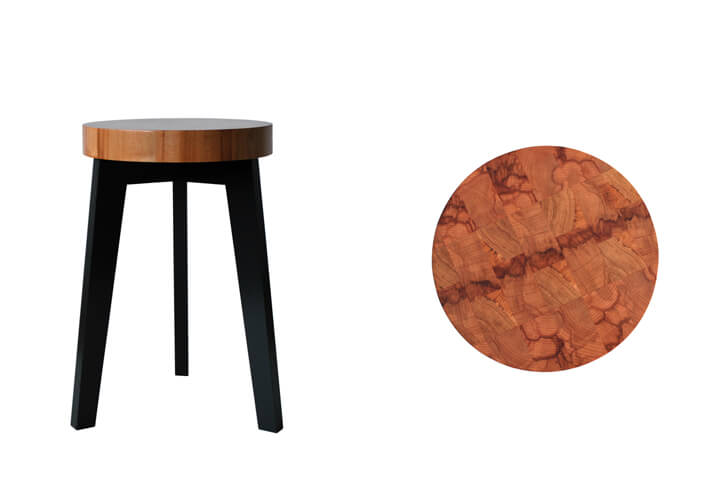 Alternature End Grain Stool