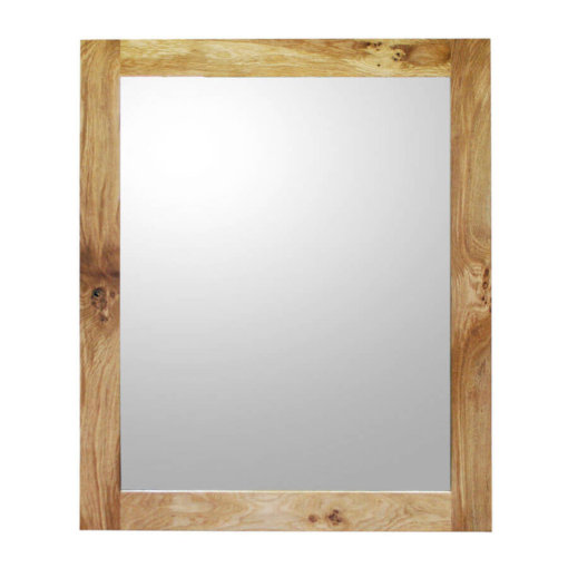 Extra large Oak framed mirror
