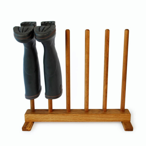 Oak Wellington Boot Rack for 3 pairs of boots