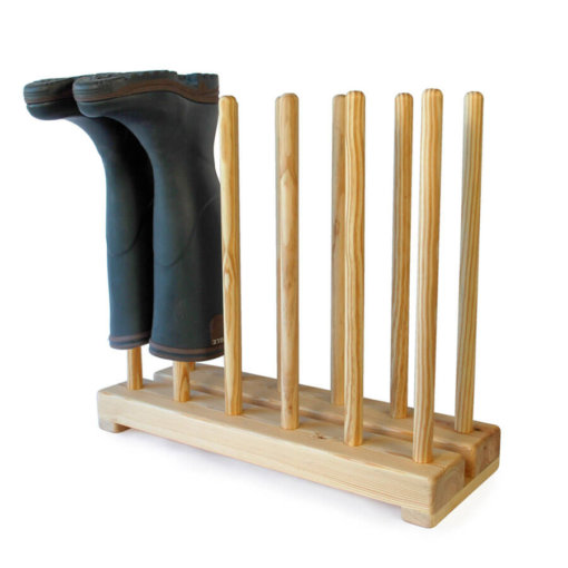 Wooden Welly Boot Stand for 6 pairs of boots