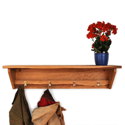 Oak Coat Racks with coat hooks in various sizes