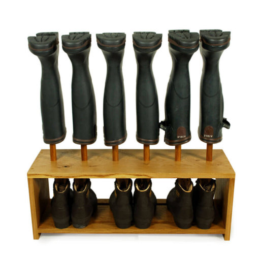 Oak Shoe and Boot Rack for 3 pairs of wellingtons and shoes