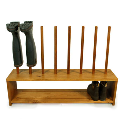 Oak Shoe and welly Rack for 4 pairs of boots and shoes