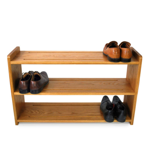 Oak Shoe Racks with three shoe shelves
