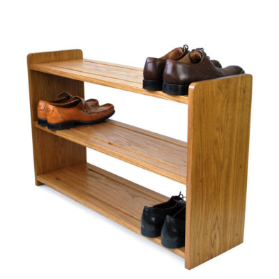 Oak Shoe Rack with three shoe shelves