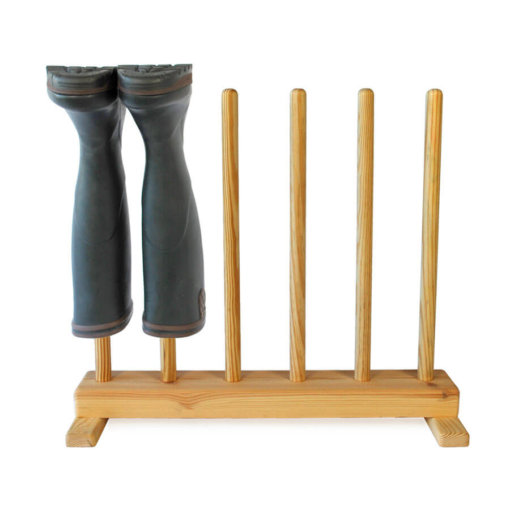 Pine Welly Boot Stand for 3 pairs of wellies