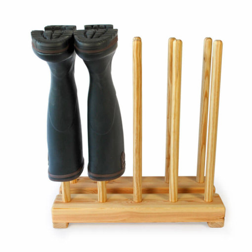 Pine Welly Boot Stand for 5 pairs of wellies
