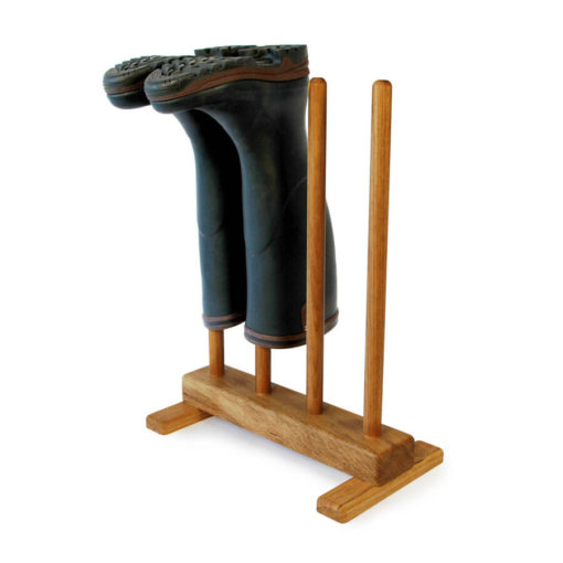 Oak Welly Stand for 2 pairs of wellingtons