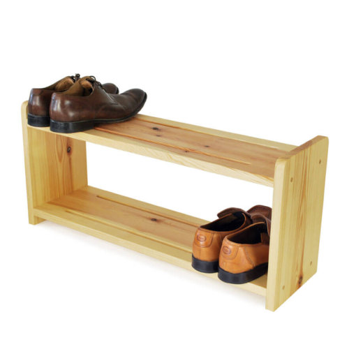 Wooden Shoe Rack in Pine for 6 pairs of shoes