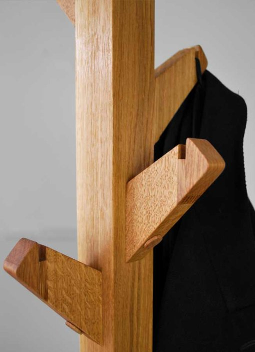 Oak Coat Tree Coat Stand Hook