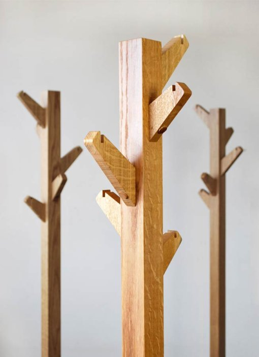 Oak Coat Tree Coat Stands